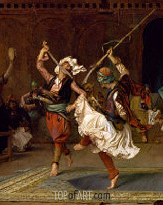 The Pyrrhic Dance (Detail), 1885   Gerome   Painting Reproduction