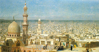 View of Cairo, 1891 | Gerome | Painting Reproduction