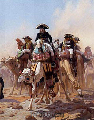 Napoleon and His General Military Staff in Egypt (Detail), 1867   Gerome   Painting Reproduction