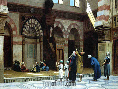 Prayer in the Mosque of Caid Bey in Cairo, 1895 | Gerome | Gemälde Reproduktion
