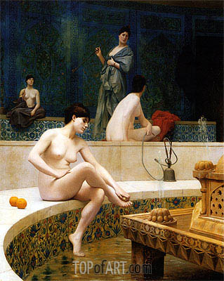 Bathers of the Harem, 1901 | Gerome | Gemälde Reproduktion