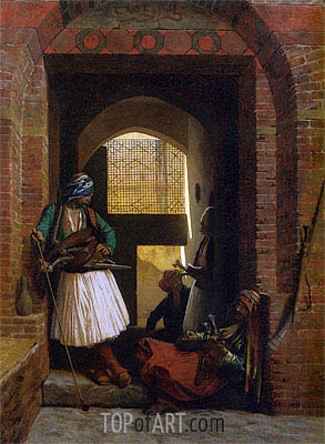 Arnauts of Cairo at the Gate of Bab el Nasr, 1861 | Gerome | Painting Reproduction