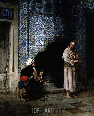 Conversation by the Fire, 1881 | Gerome | Painting Reproduction