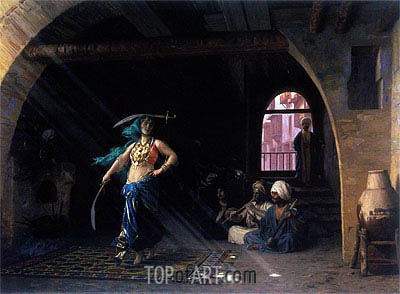 Dance of the Saber in a Cafe, 1876 | Gerome | Painting Reproduction