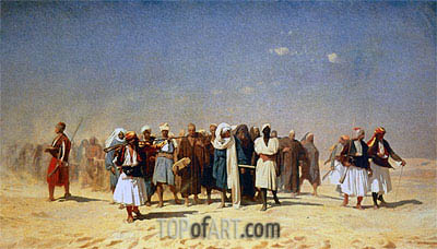 Egyptian Recruits Crossing the Desert, 1857 | Gerome | Painting Reproduction