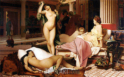 Greek Interior, 1850 | Gerome | Painting Reproduction