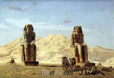 Memnon and Sesostris, 1856 | Gerome | Painting Reproduction
