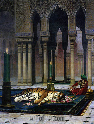Pain of the Pasha - the Dead Tiger, 1885 | Gerome | Painting Reproduction