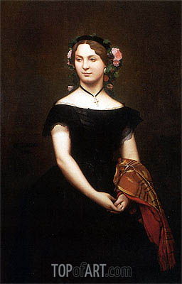 Portrait of Mademoiselle Durand, 1853 | Gerome | Painting Reproduction