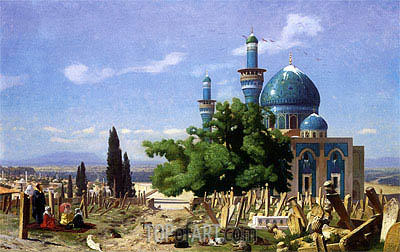 The Green Mosque at Broussa, 1876 | Gerome | Painting Reproduction