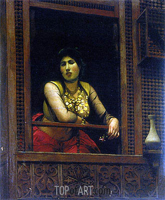 Woman at Her Window, 1888   Gerome   Painting Reproduction