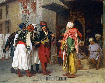 Travelling Merchant in Cairo, 1866 | Gerome | Painting Reproduction