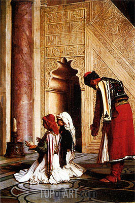 Young Greeks at a Mosque, 1865 | Gerome | Painting Reproduction