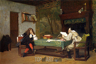 A Collaboration Corneille and Moliere, 1873 | Gerome | Painting Reproduction