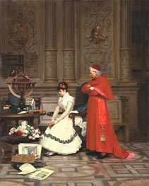 The Reproach, undated von Jehan Georges Vibert | Gemälde-Reproduktion