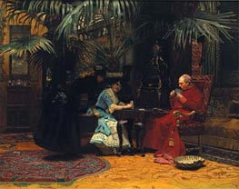 The Church in Danger, undated by Jehan Georges Vibert | Painting Reproduction