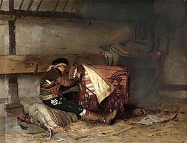 The Spanish Saddle Maker, 1873 von Jehan Georges Vibert | Gemälde-Reproduktion