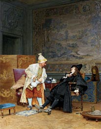 The Sick Doctor, 1892 von Jehan Georges Vibert | Gemälde-Reproduktion