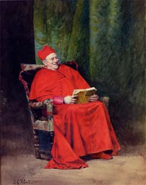 Reading Rabelais, undated by Jehan Georges Vibert | Painting Reproduction