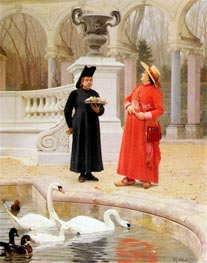 A Plate of Cakes, undated by Jehan Georges Vibert | Painting Reproduction