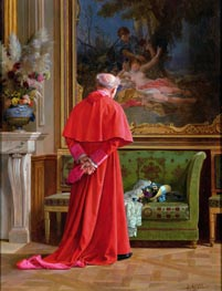 The View, undated by Jehan Georges Vibert | Painting Reproduction