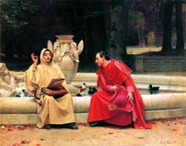 A Fine Point, undated by Jehan Georges Vibert | Painting Reproduction