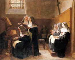 The Convent Choir, 1865 von Jehan Georges Vibert | Gemälde-Reproduktion