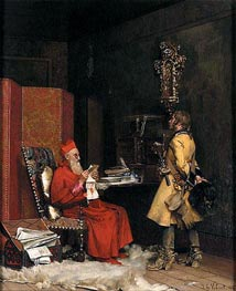 Un secret d'etat, 1875 by Jehan Georges Vibert | Painting Reproduction