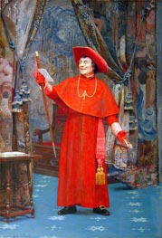Cardinal Reading a Letter | Jehan Georges Vibert | Painting Reproduction