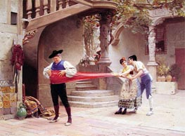 The Final Touch | Jehan Georges Vibert | Painting Reproduction