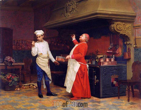 The Marvelous Sauce, c.1890 | Jehan Georges Vibert | Painting Reproduction
