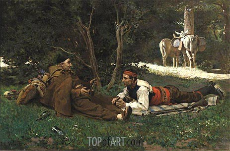 An Afternoon Libation, undated | Jehan Georges Vibert | Painting Reproduction