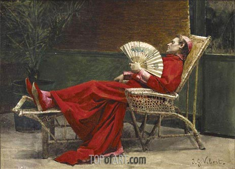 La Sieste, undated | Jehan Georges Vibert | Painting Reproduction