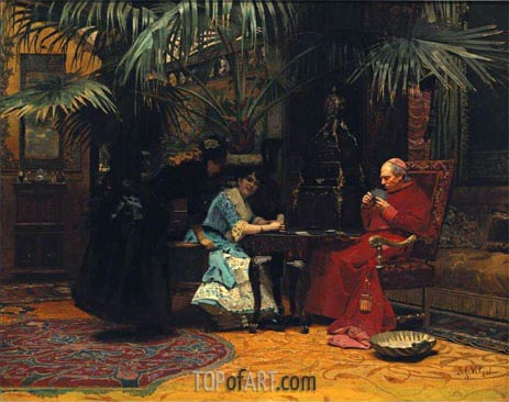 The Church in Danger, undated | Jehan Georges Vibert | Painting Reproduction