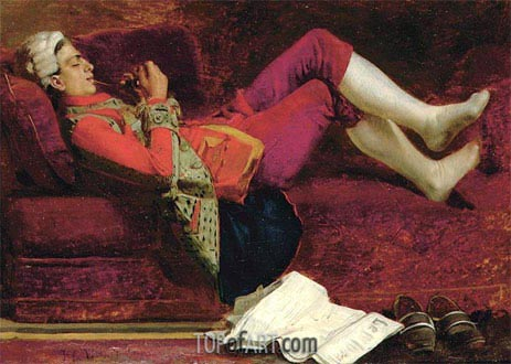 Rest, undated | Jehan Georges Vibert | Painting Reproduction