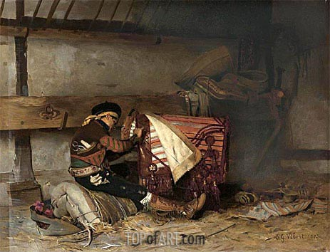 The Spanish Saddle Maker, 1873 | Jehan Georges Vibert | Painting Reproduction