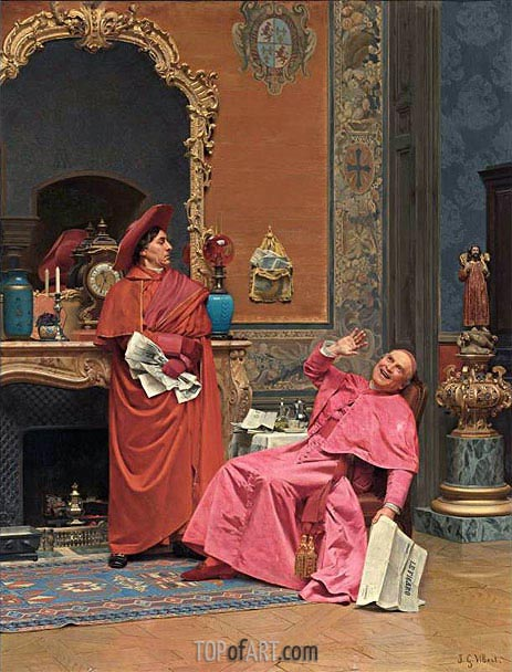 Les Journaux, undated | Jehan Georges Vibert | Painting Reproduction