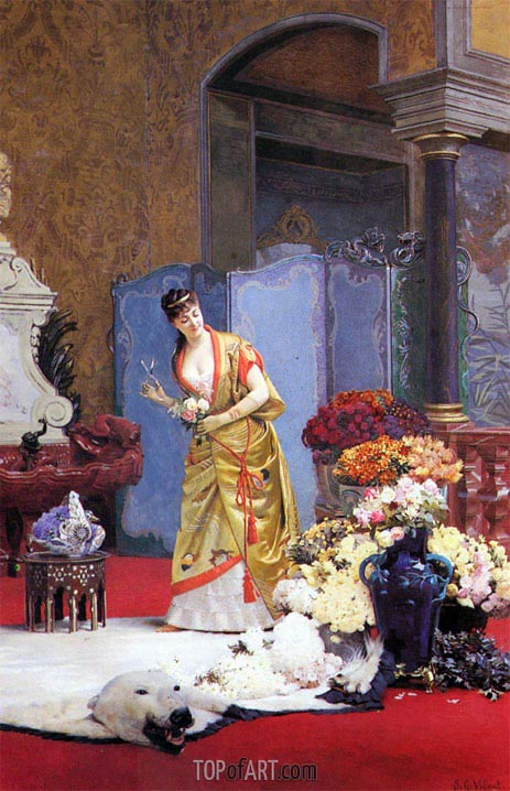 Autumn Flowers, undated | Jehan Georges Vibert | Painting Reproduction
