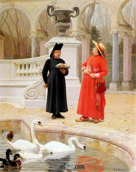 A Plate of Cakes, undated | Jehan Georges Vibert | Painting Reproduction