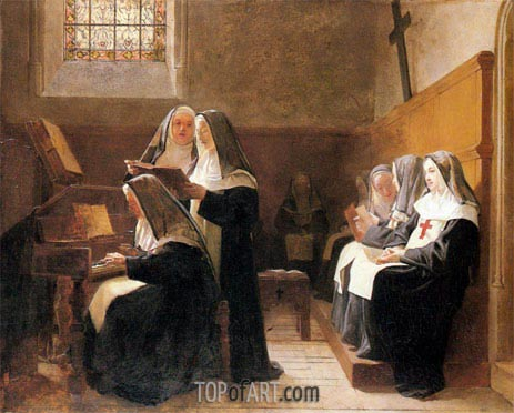 The Convent Choir, 1865 | Jehan Georges Vibert | Painting Reproduction