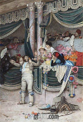 The Bullfighter's Adoring Crowd, Undated | Jehan Georges Vibert | Painting Reproduction