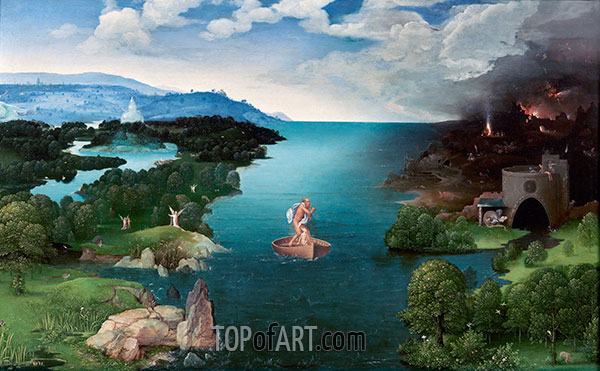 Charon Crossing the Styx, c.1520/24 | Joachim Patinir | Painting Reproduction