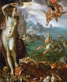 Perseus Rescues Andromeda | Joachim Wtewael | Painting Reproduction