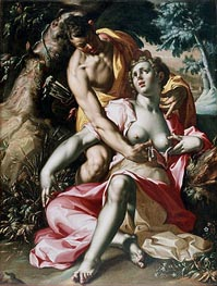 Cephalus and Procris (The Death of Procris), c.1595/00 von Joachim Wtewael | Gemälde-Reproduktion
