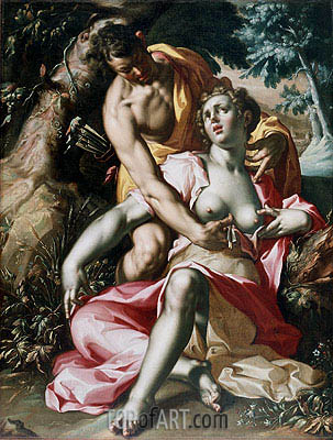 Cephalus and Procris (The Death of Procris), c.1595/00 | Joachim Wtewael | Painting Reproduction