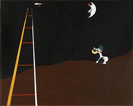 Dog Barking at the Moon | Joan Miro | Painting Reproduction