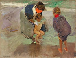 On the Beach, 1908 von Sorolla y Bastida | Gemälde-Reproduktion