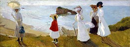 Lighthouse Walk at Biarritz, 1906 von Sorolla y Bastida | Gemälde-Reproduktion