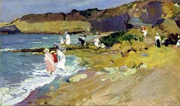 Beach Scene | Sorolla y Bastida | Painting Reproduction