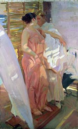 After the Bath (The Pink Robe) | Sorolla y Bastida | Gemälde Reproduktion